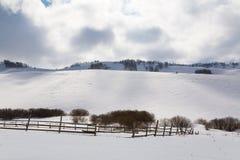 Ranch della montagna nell'inverno Fotografia Stock Libera da Diritti