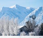 Ranch in den Bergen lizenzfreies stockfoto
