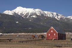 Ranch in der Landschaft Stockfoto