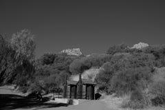 Ranch des Kreis-X Schwarzweiss lizenzfreie stockfotografie