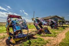 Ranch di Bugg su Route 66 nel Texas immagini stock libere da diritti