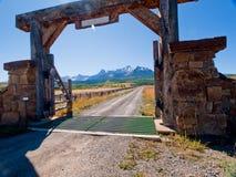 Ranch-Eingang stockfotos
