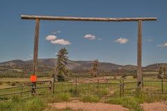 Ranch-Eingang stockfotografie