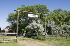 Ranch Entrance Royalty Free Stock Photo