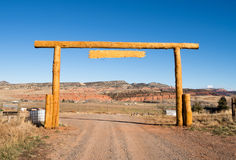 Ranch Entrance Gate Country Farm Marquee Royalty Free Stock Photo