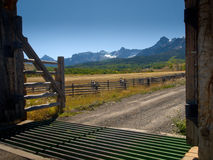 Ranch Entrance Royalty Free Stock Images