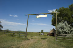 Ranch Entrance in Wyoming Stock Photography