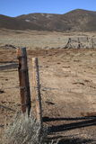 Ranch Fence - Wyoming Stock Photo
