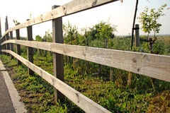 Ranch fencing. Photo of ranch fencing along a kent field royalty free stock photography