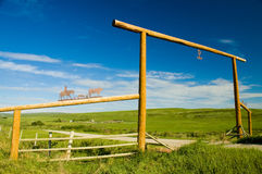 Ranch Gate Stock Image