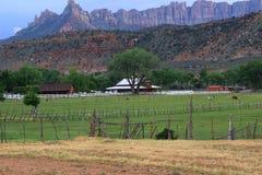 Ranch gelegen in Fern-Utah lizenzfreie stockbilder