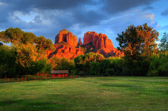 Ranch House Cathedral Rock Stock Image