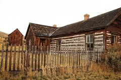 Ranch House in Ghost Town. A ranch house in the ghost town of Bannack, MT Stock Image