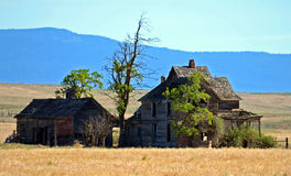 Ranch house. This ranch house, at won time was something to see it is located south of a town called Goldendale WA Royalty Free Stock Photos