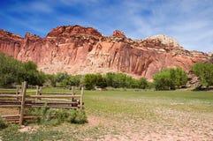 Ranch im Kapitol-Riff Stockbilder