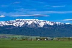 Ranch land near Joseph, Oregon. Ranch land near the Wallowa Mountains in Oregon Stock Images