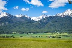 Ranch land near Joseph, Oregon. Ranch land near the Wallowa Mountains in Oregon Royalty Free Stock Photos