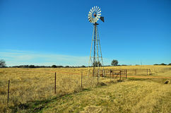 Ranch Land Windmill Stock Photography
