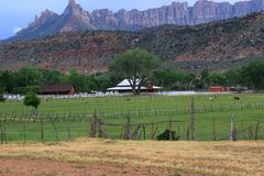 Ranch located in remote Utah royalty free stock images