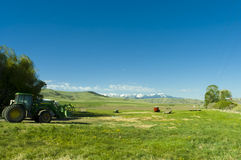 Ranch in the mountains of Montana state Royalty Free Stock Images