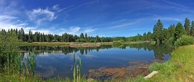 Ranch nero in sorelle, Oregon della collina Fotografie Stock