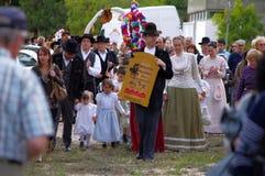 Ranch portoghese di folclore Immagine Stock