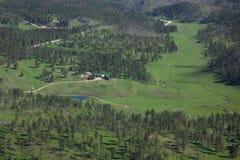 Ranch reculé photographie stock libre de droits