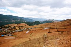 Shangri-La. The ranch and residence of the Tibetans in Shangri-La, Yunnan Stock Images