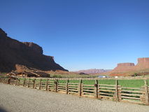 Ranch. Scenic Red Cliffs Lodge and ranch at the Colorado River near Moab, Utah, USA Stock Photos