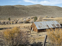 Ranch setting on the Eastern Sierra Nevada Stock Photos