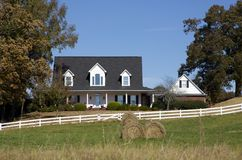 Ranch style home in the country Royalty Free Stock Photography