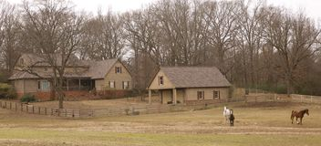 Ranch style home in the country Royalty Free Stock Images