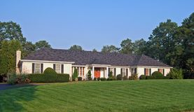 Ranch Sytle Home. An elegant ranch style home in the northeastern part of the United States Royalty Free Stock Images