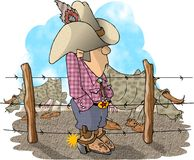 Rancheiro do gado ilustração royalty free