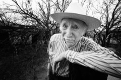 Rancher with sad eyes Stock Image