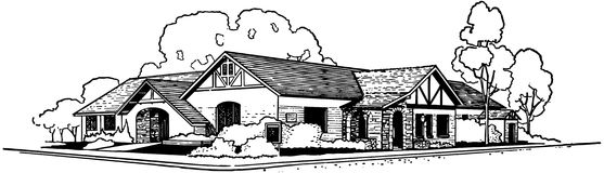 Rancher Style House Stock Images