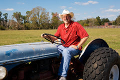 Rancher on Tractor Stock Image