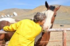 Ranchero de sexo femenino. fotografía de archivo