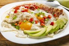 Rancheros Huevos - яйца в ранчо стоковая фотография rf