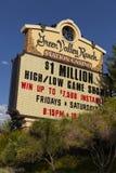 Ranchkasinot för den gröna dalen undertecknar in Las Vegas, NV på Augusti 20, 20 Arkivbild