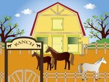 Rancho ilustración del vector