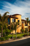 Rancho California. A large Spanish Colonial style California home Stock Image