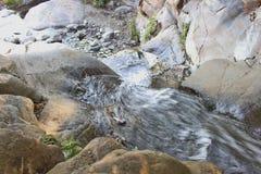 RANCHO CUCAMONGA, CA - Etiwanda baja, visión superior Imagen de archivo