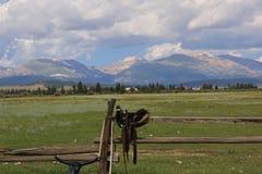 Rancho del caballo en el ` rocoso s fotos de archivo