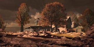 Rancho del caballo en el sudoeste stock de ilustración