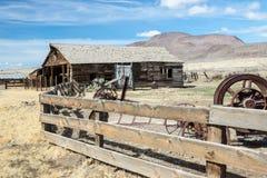 Rancho del oeste viejo en Nevada fotos de archivo