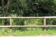 Rancho drewniany ogrodzenie Zdjęcia Royalty Free