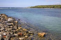 Rancho Luna karibiskt hav Atlantic Ocean övre sikt Royaltyfria Foton