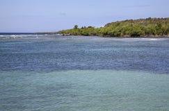 Rancho Luna karibiskt hav Atlantic Ocean övre sikt Royaltyfri Fotografi