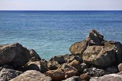 Rancho Luna karibiskt hav Atlantic Ocean övre sikt Arkivbilder